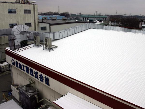 信和工業 工場屋根遮熱塗装