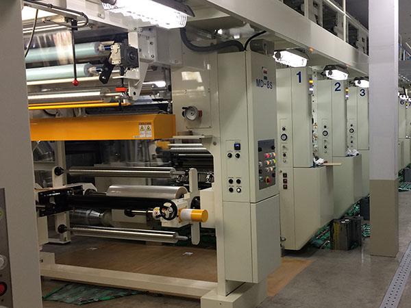 信和工業 グラビア8色印刷機 有効印刷巾 1140mm